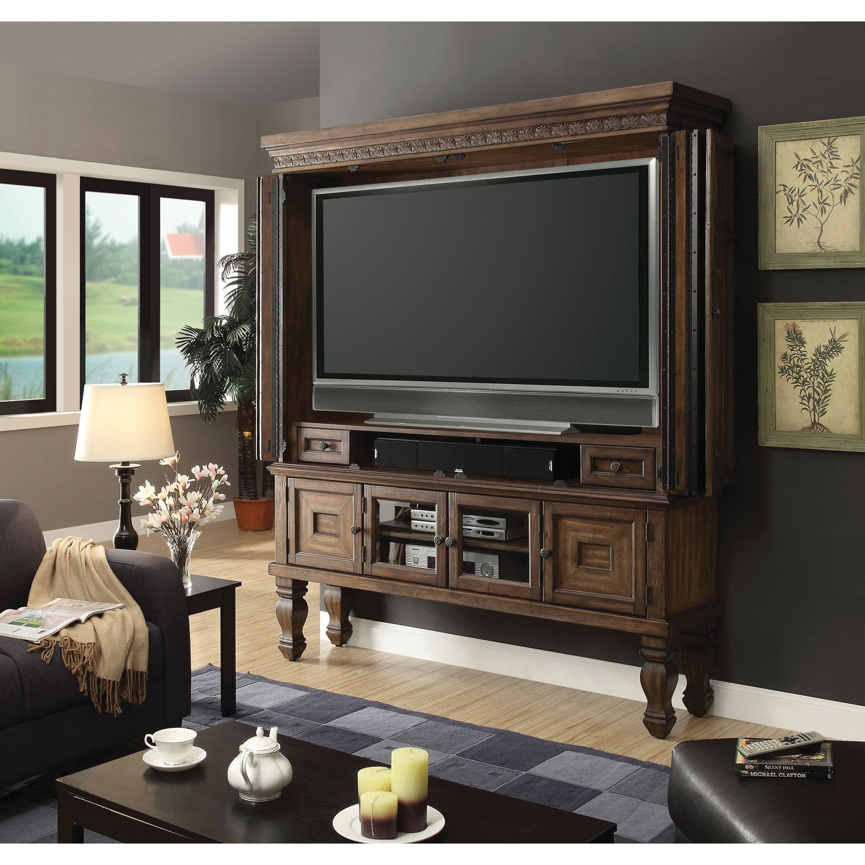 Parker House Aria 75 Inch Entertainment Armoire PHARI60002