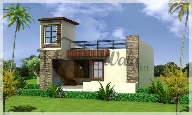 3d front elevation design indian front elevation kerala for Indian homes front design