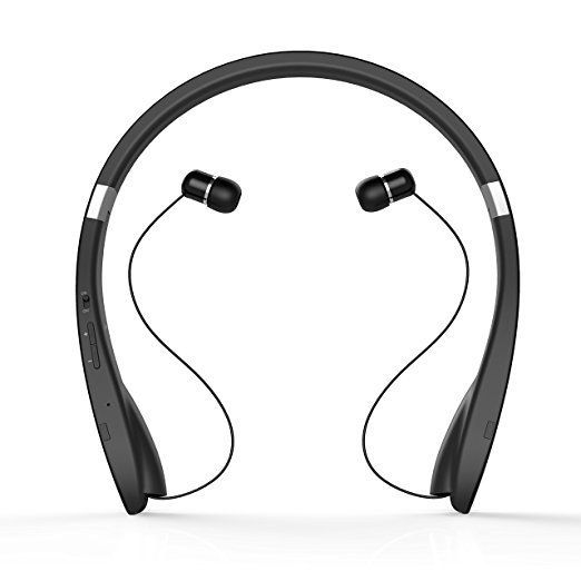 Amazon Com Bluetooth Headset Levin Wireless Bluetooth Headphone Foldable Neckband Design Retracta Headset Bluetooth Headphones Wireless Sweatproof Headphones
