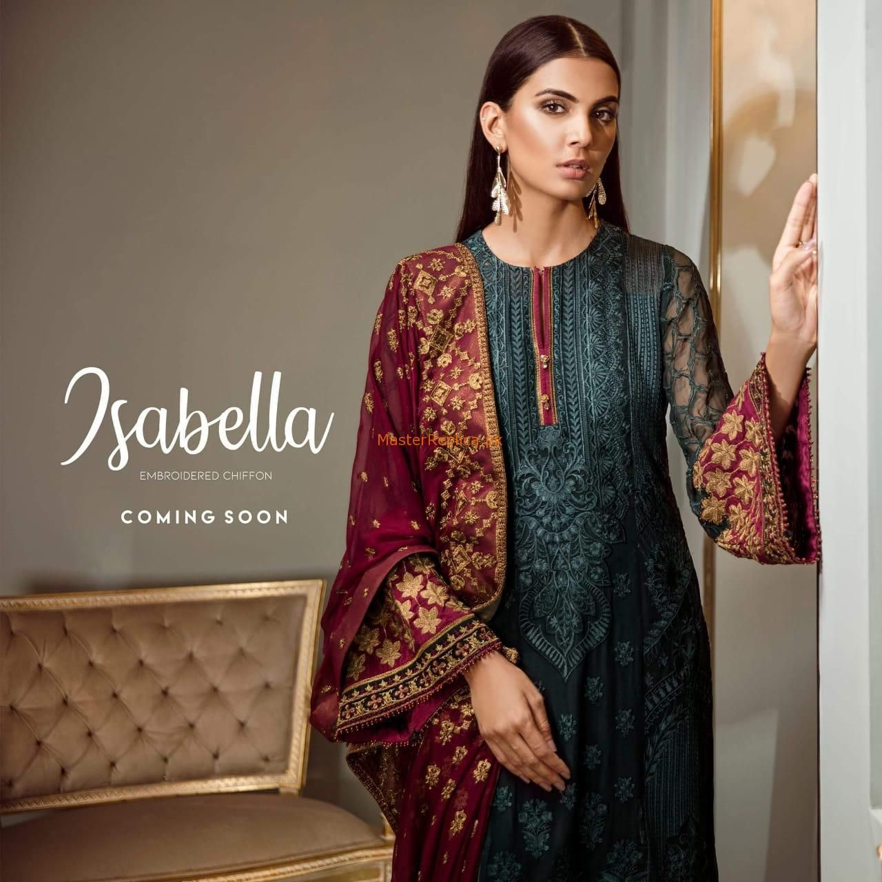 Baroque Latest Embroidered Isabella Chiffon Collection ...