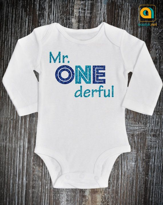 Onederful 1st Birthday Party Romper Gift for Baby Boy Mr