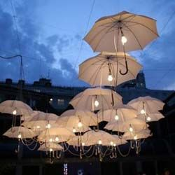 Outdoor umbrella lighting wedding lighting outdoor events and suspend umbrellas with lights for a mary poppins outdoor movie event a movies under the stars theming idea from southern outdoor cinema aloadofball Choice Image