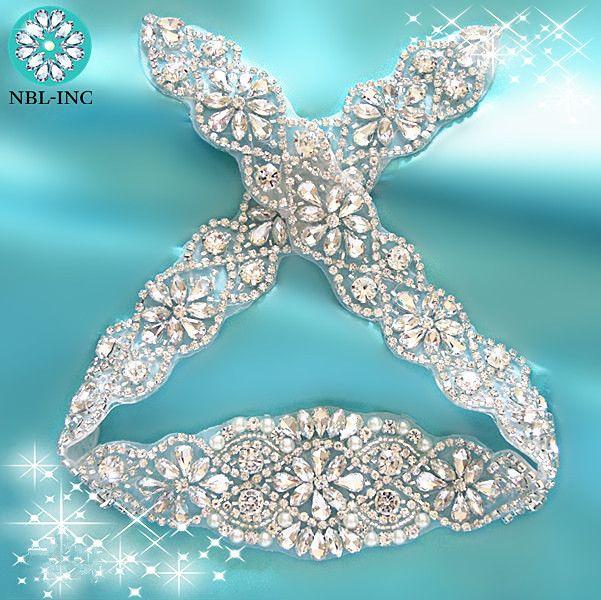 Kaufen (1 STÜCK) Hand perlen silber braut hochzeit kristall strass ...
