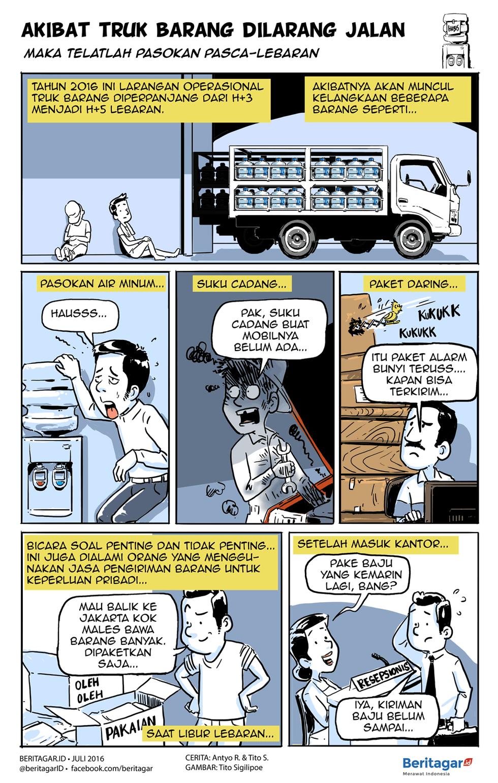 Saat Truk Barang Tak Menghambat Mobil Cepat Truk Mobil Komik