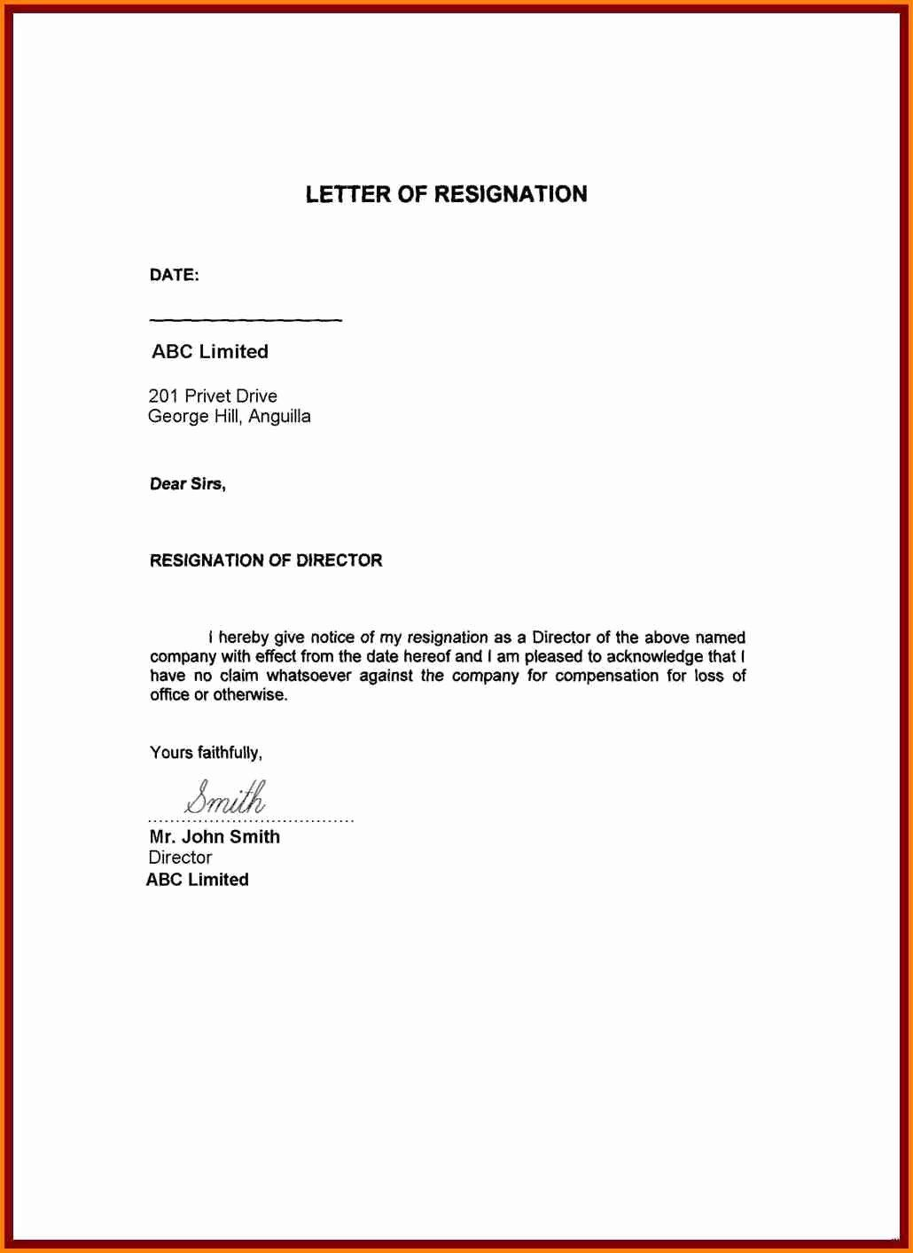 Resignation Letter Personal Reasons Lovely 30 Due to Personal ...