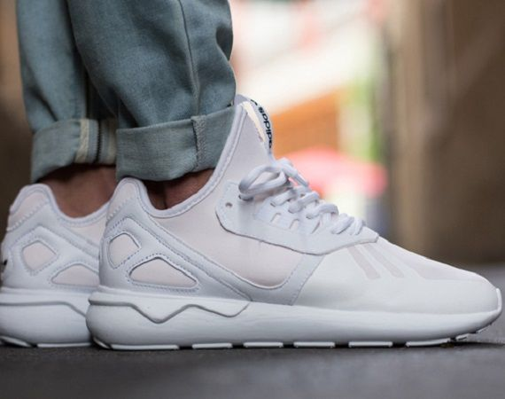 white adidas tubular trainers