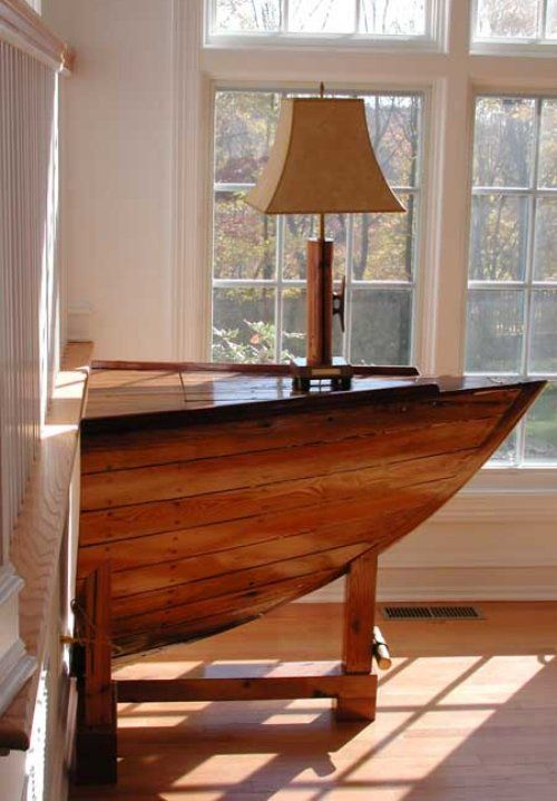 Old Boats Become Furniture Old Boats Boat Furniture Decor