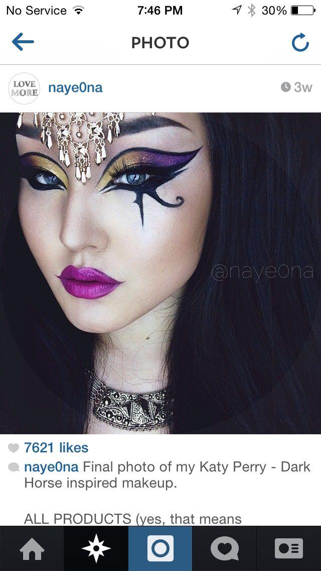Katy Perry Dark Horse Inspired Makeup Make Up Pinterest Makeup