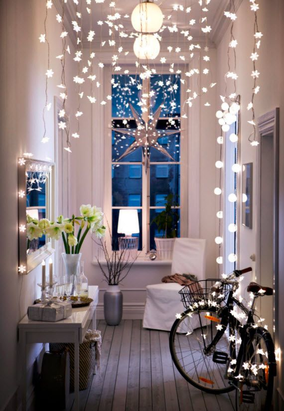 apartment christmas decorations lights - Apartment Christmas Decorating Ideas