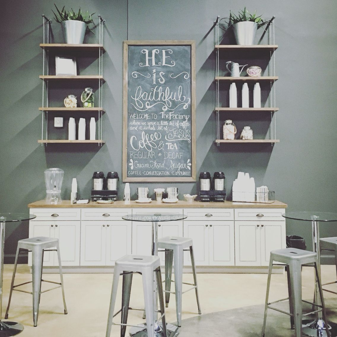 Office Coffee Bar Furniture: Custom Coffee Bar For Church. #thefunkydebutante