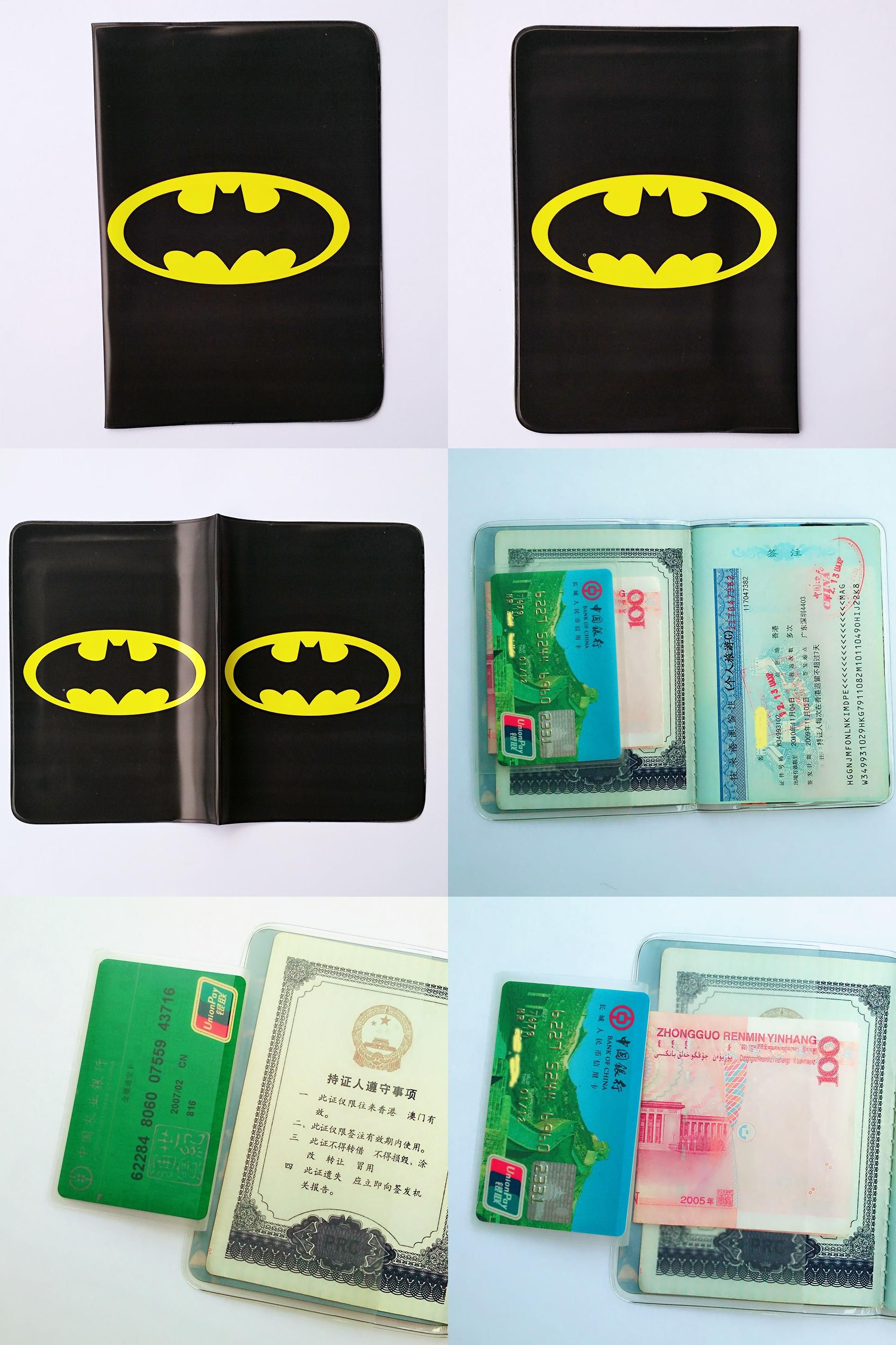 Visit to Buy] Cartoon Batman Passport Holder ID Card Holder 3D ...