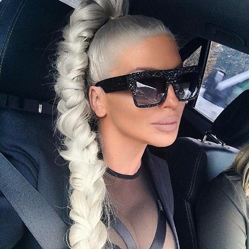 Pop Age Fashion Diamond Oversized Sunglasses Women Kim
