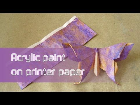 Origami Paper Instructions Acrylic Paint On Printer Paper Youtube