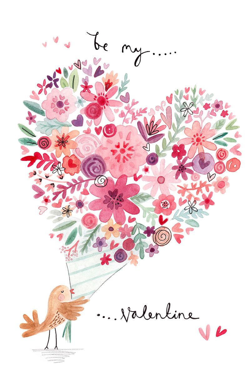 Greeting Cards Valentines Cards Felicity French Illustration – French Valentines Cards