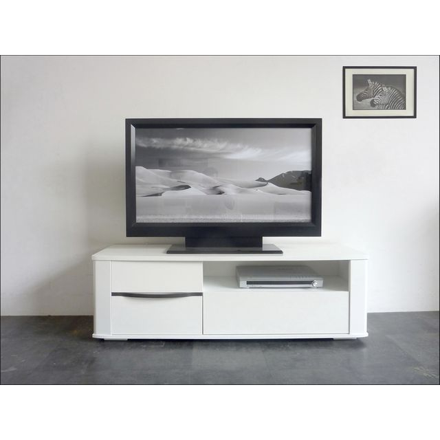 inspirant meuble tele blanc et bois