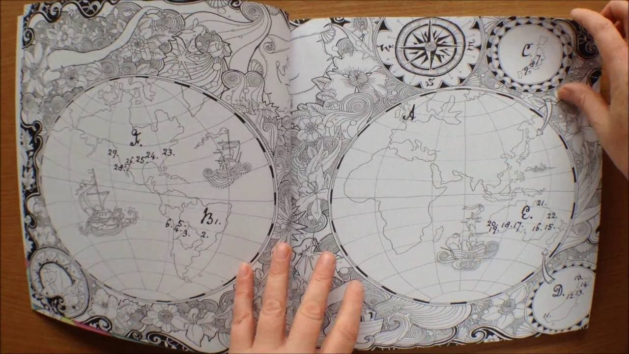 The Magical Journey By Lizzie Mary Cullen Colouring Book Flipthrough