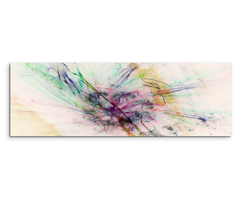 150x50cm panoramabild paul sinus art abstrakt rot grun grau creme wohnzimmer mobel wohnen dekoration bilder dr kunstproduktion grafische kunst abstrakte auf leinwand