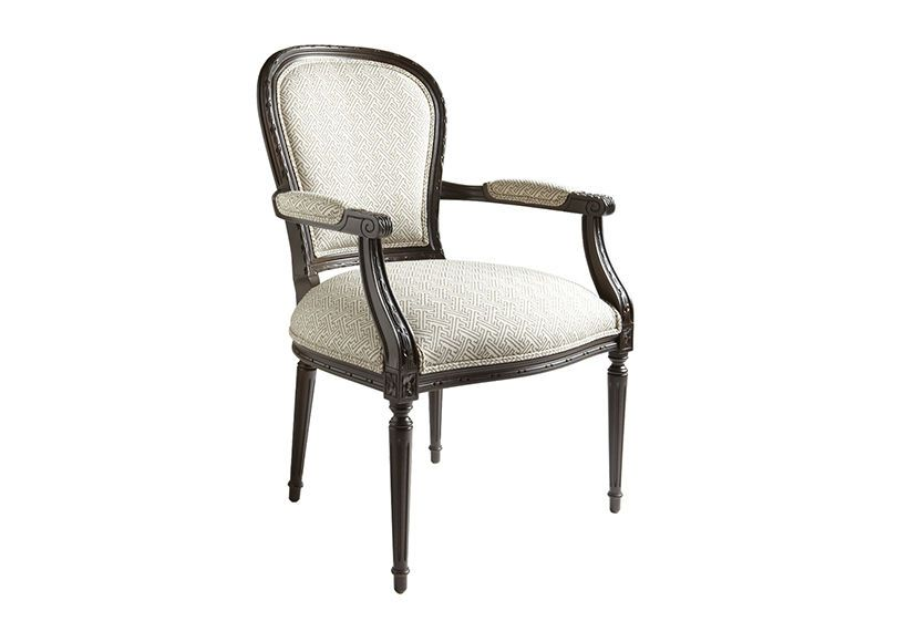 Ethan Allen: Claudette Chair (color: Black With Silver, Grey And Creme)