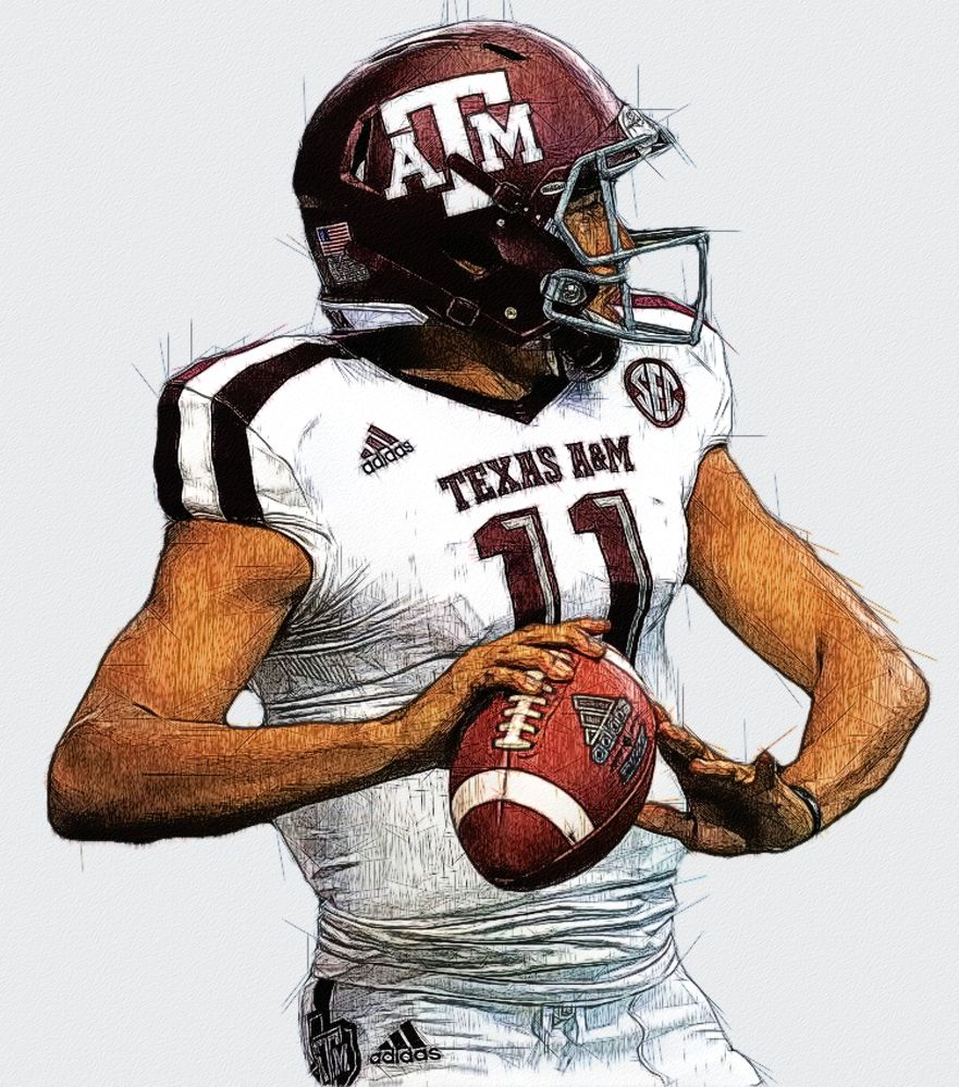 Kellen Mond Texas A M Qb Aggie Football Football Helmets Football Illustration