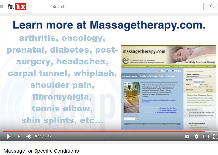 If you've ever wondered how massage therapy can benefit a specific ...