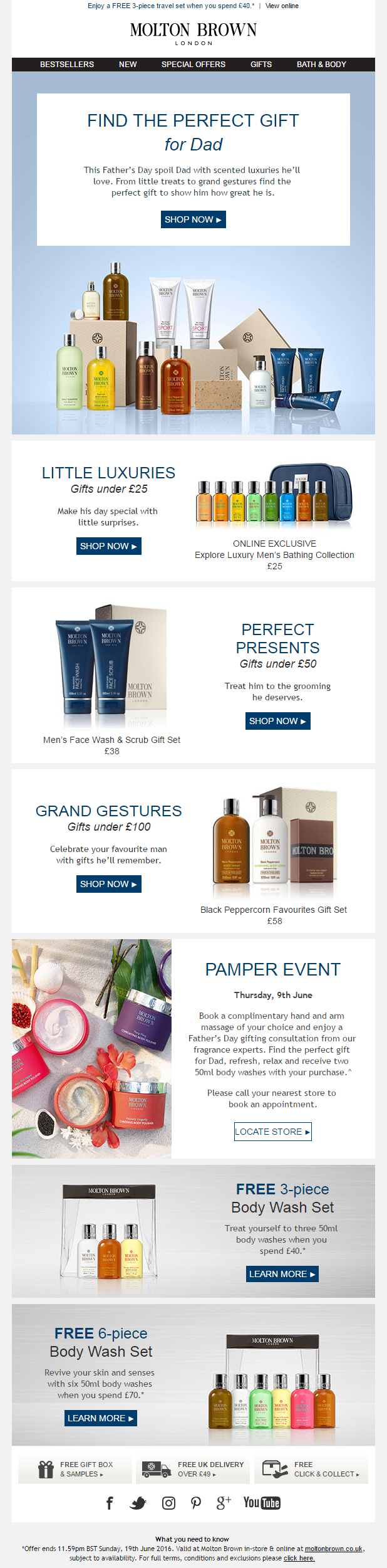 Molton Brown Father\'s Day gift ideas email #EmailMarketing #Email ...