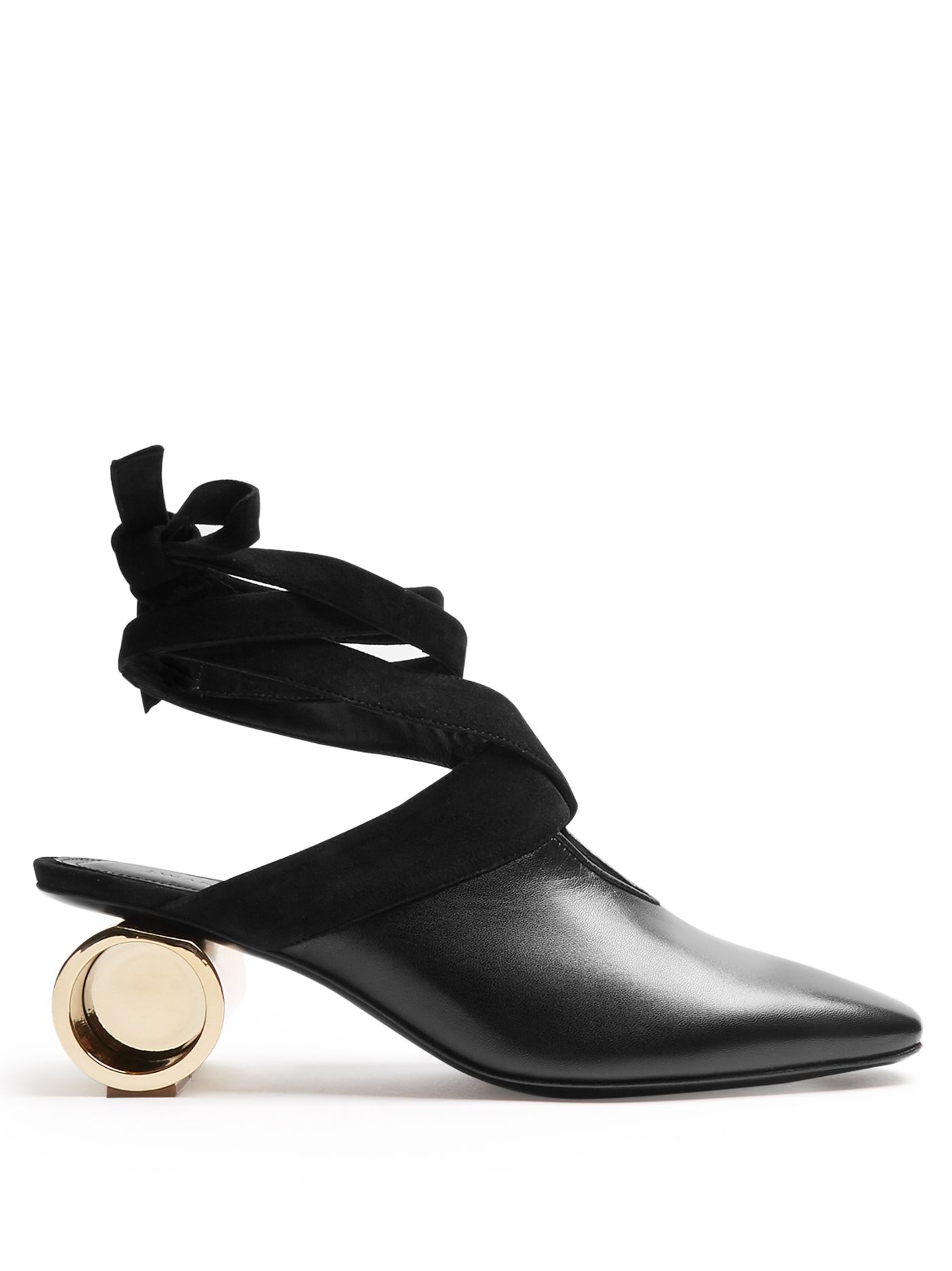 JW Anderson Cylinder Leather Ballet Mules - Lyst