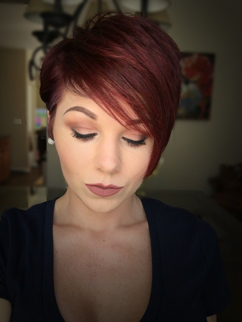 Red pixie cut short hairstyles pinterest the nerve hair color