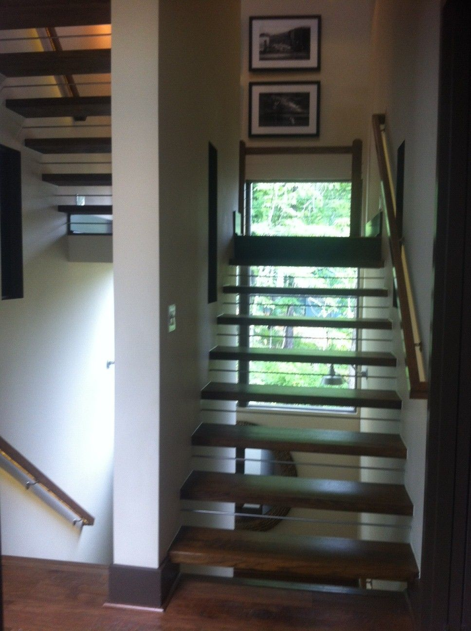 Best Floating Stairs With Lighting Hgtv Green Home Green 400 x 300