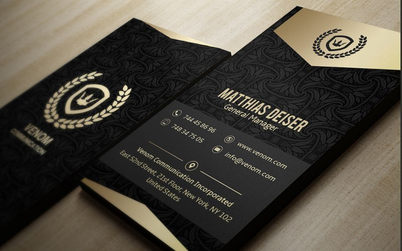 Jpg60 800500 pixels bcards pinterest mock up business cards gold and black business card by marvel on accmission Choice Image