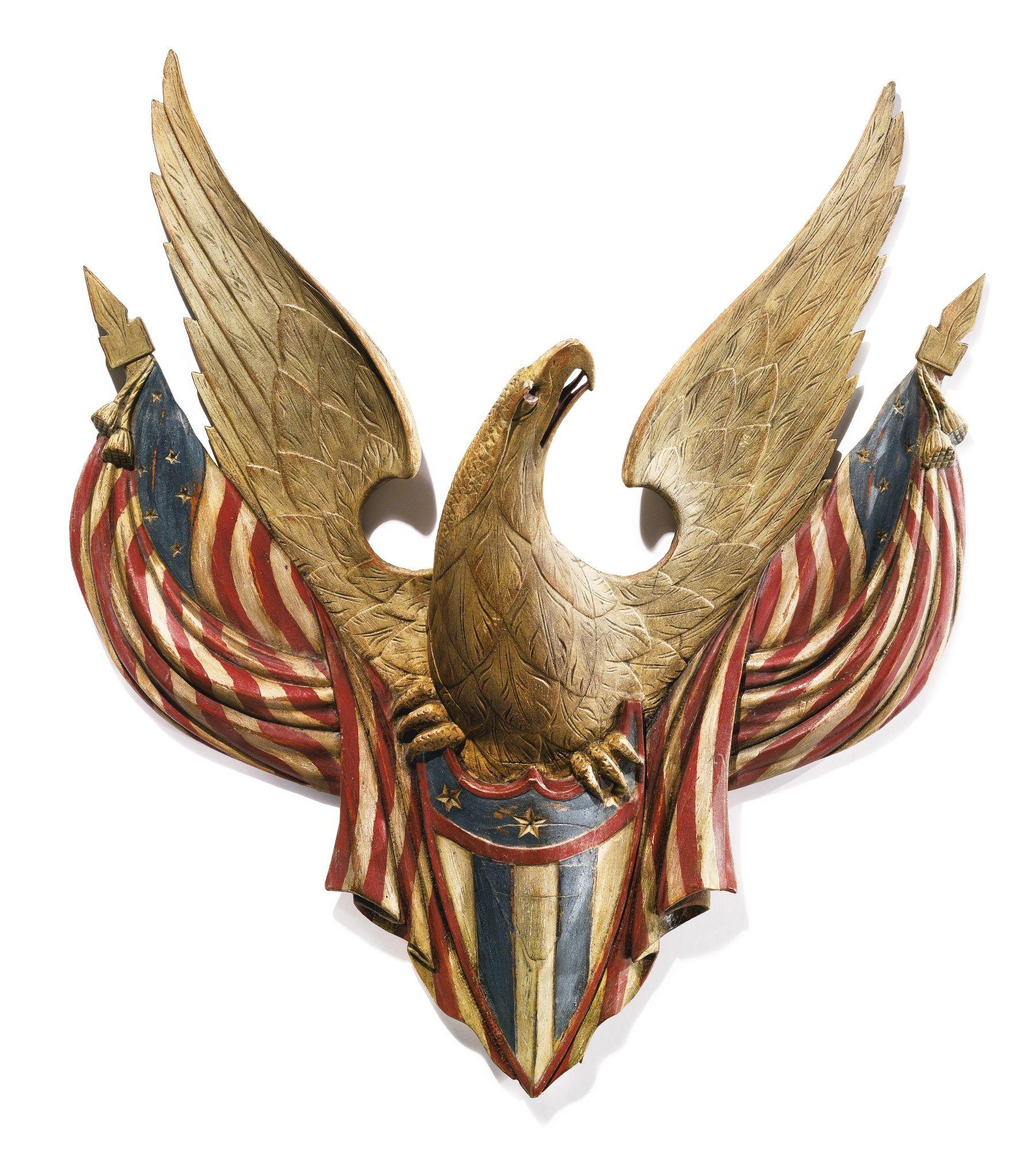 Huge old hand carved wood federal eagle folk art wooden eagle wall - American Eagle Sotheby S Auction Jan 23 2016 By John Haley Bellamy Estimate 250 000 Art Carvedamerican Artistsbird Artart Sculpturespetra Folk