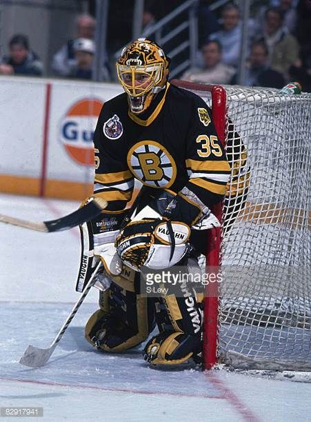 Canadian Ice Hockey Player Andy Moog Goalkeeper For The Boston Bruins Picture Id82917941 451 612 Boston Bruins Boston Bruins Goalies Boston Bruins Hockey