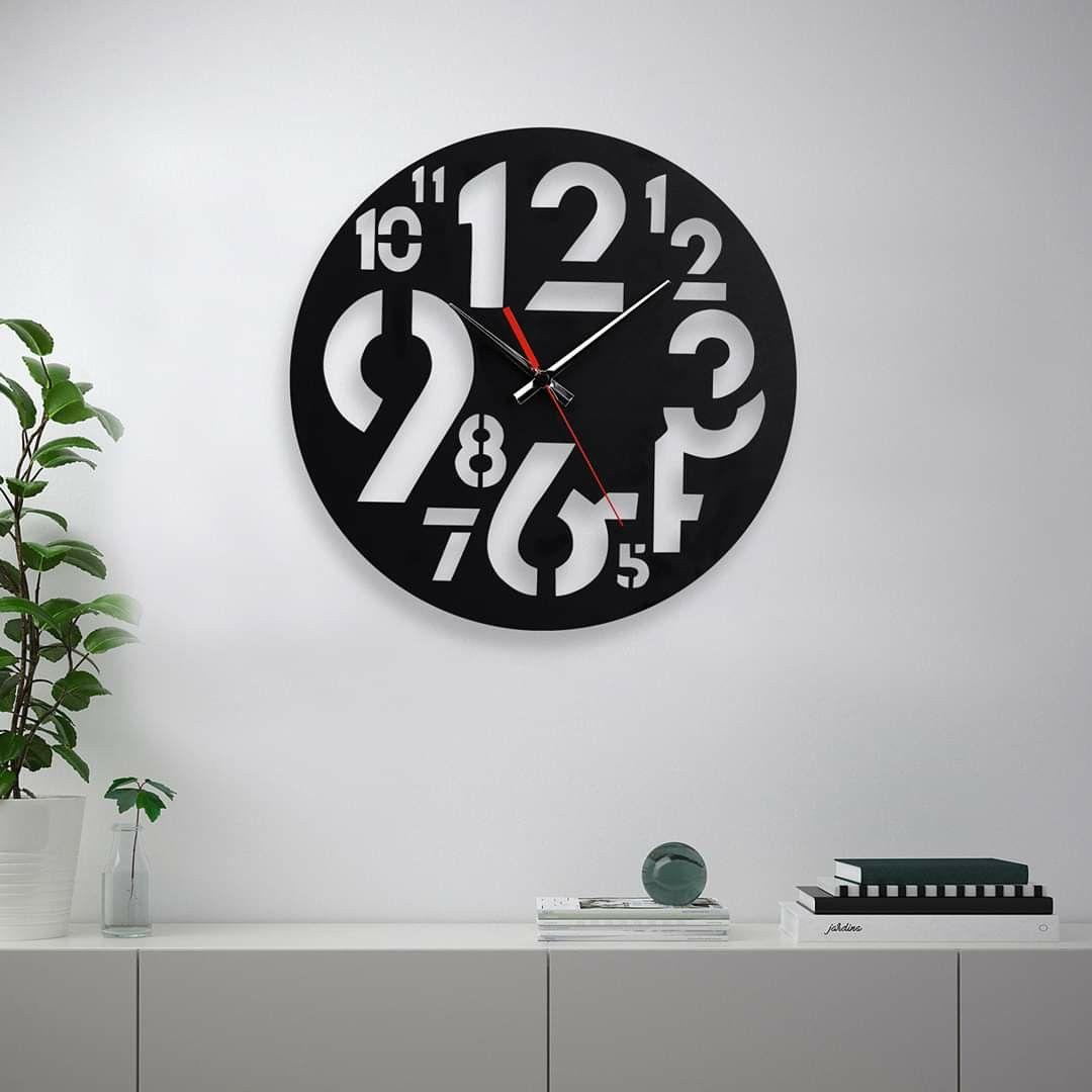 Modern Wooden Wall Clock Decoration Arakawa Daclover In 2020 Rustic Wall Clocks Wood Wall Clock Industrial Clock Wall