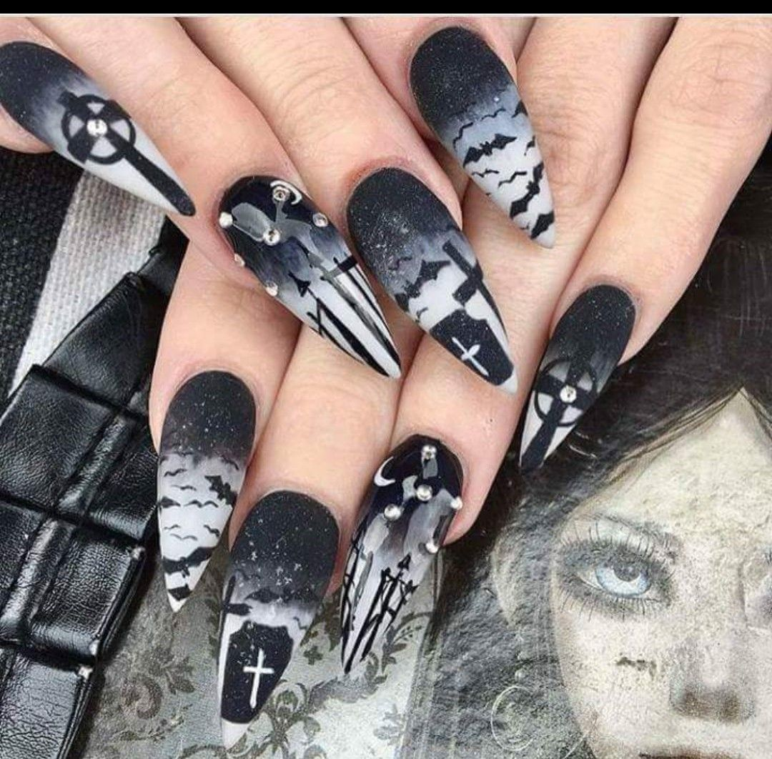 Discover ideas about Goth Hairstyles. By goth nail art - Pin By Rosin On Nails Pinterest Gothic Nails, Goth Makeup And Makeup