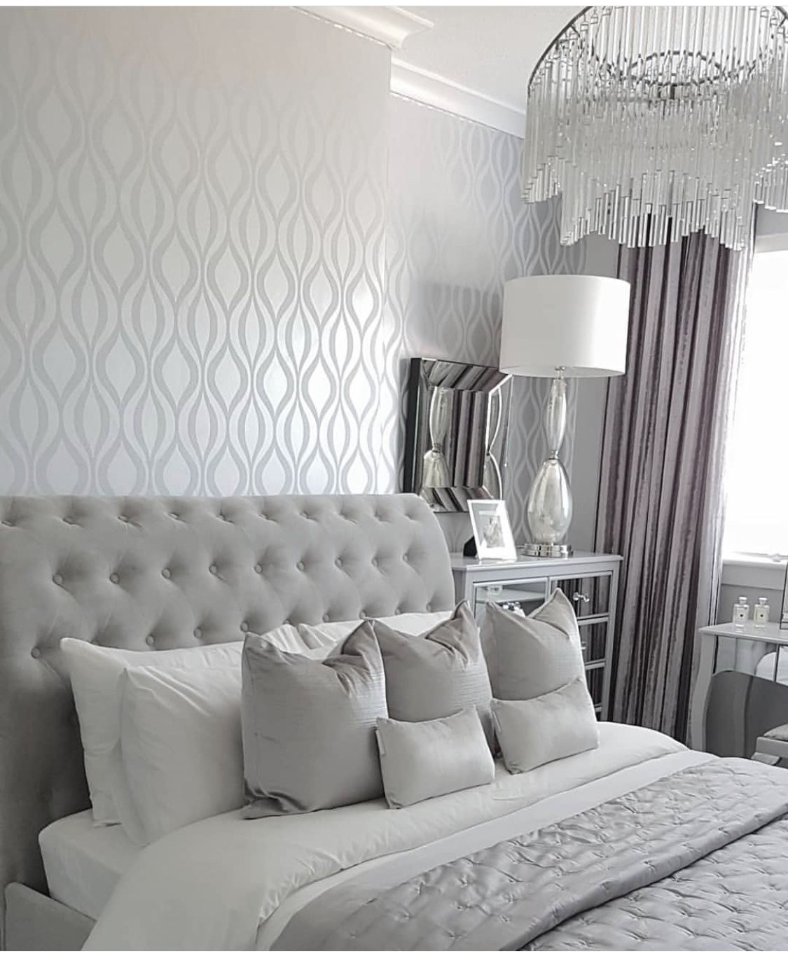 Pin By Elly On Home Improvement Silver Bedroom Silver Bedroom Decor Bedroom Decor