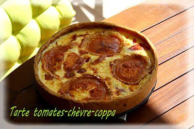 Tarte tomate, chèvre & coppa