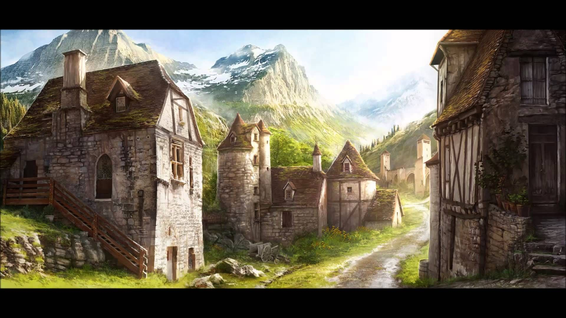 Ambient Medieval/Fantasy Town Sounds (Put on Loop