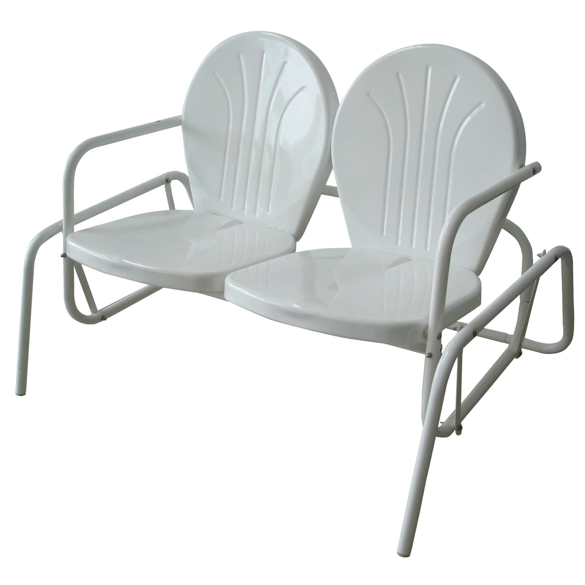 Sit back and relax on this double seat glider chair This