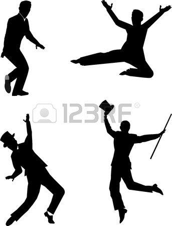 Les Danseurs De Claquettes En Silhouette Claquettes Danseuse Silhouette