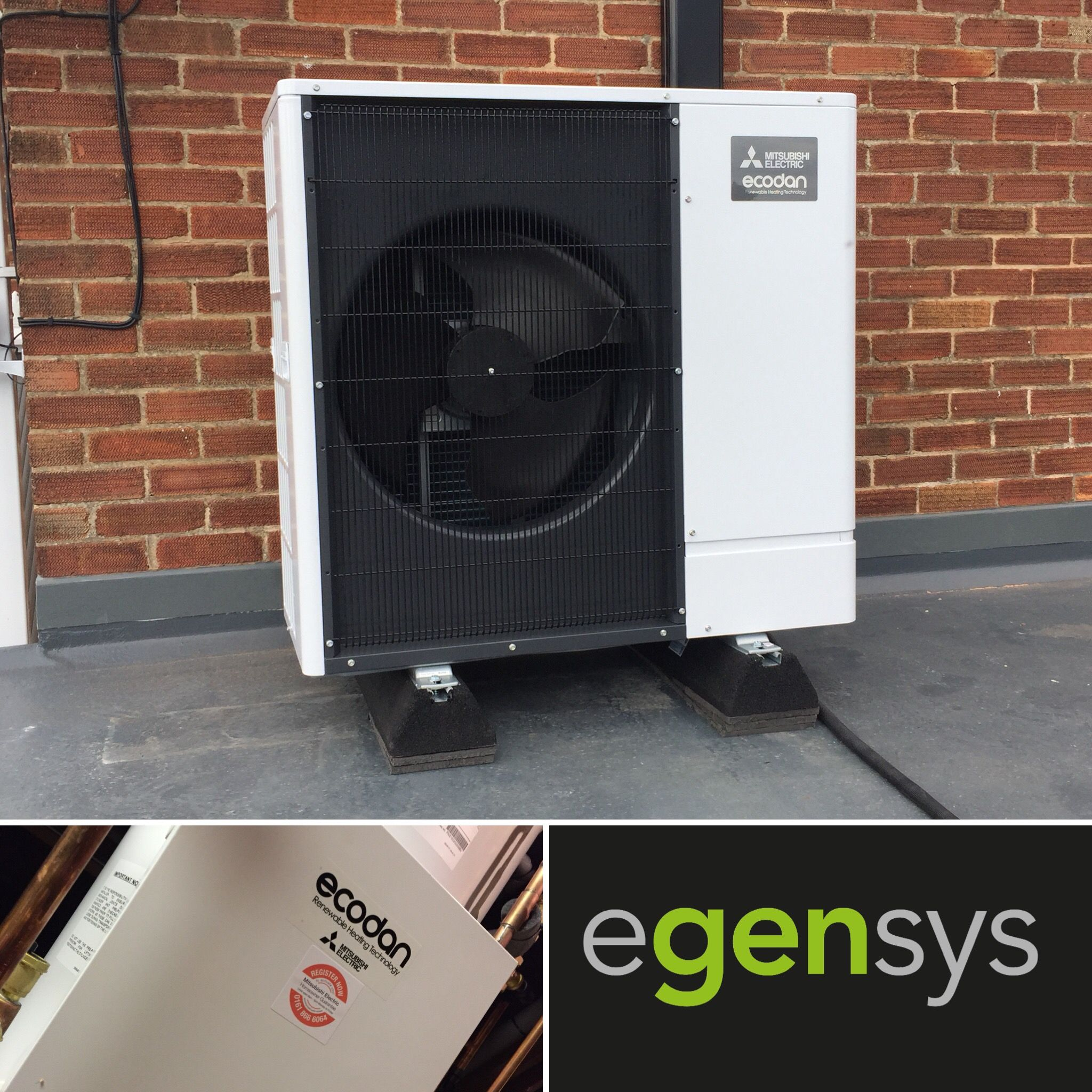 Mitsubishi Ecodan 8.5kW Air Source Heat Pump with 210L pre
