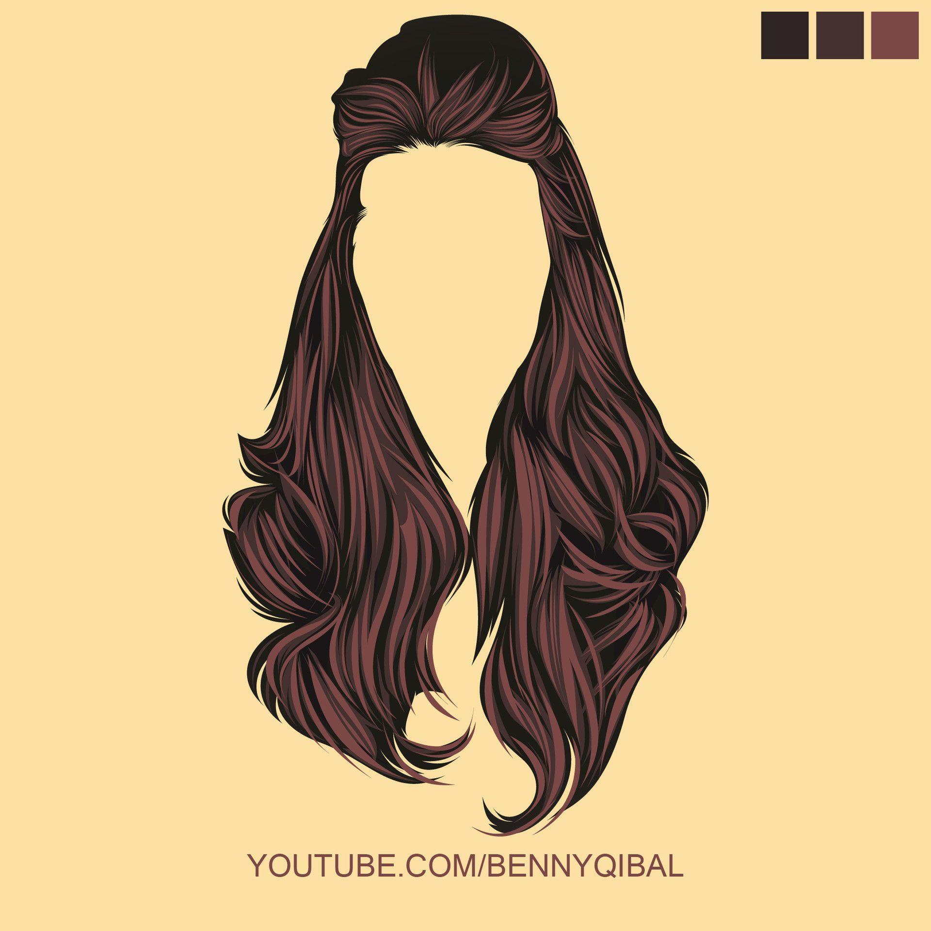 Video Tutorial How To Make Vector Hair Using Adobe Illustrator Learn