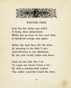 Winter-Time ~ Free Vintage Poem and Clip Art - Old Design Shop Blog