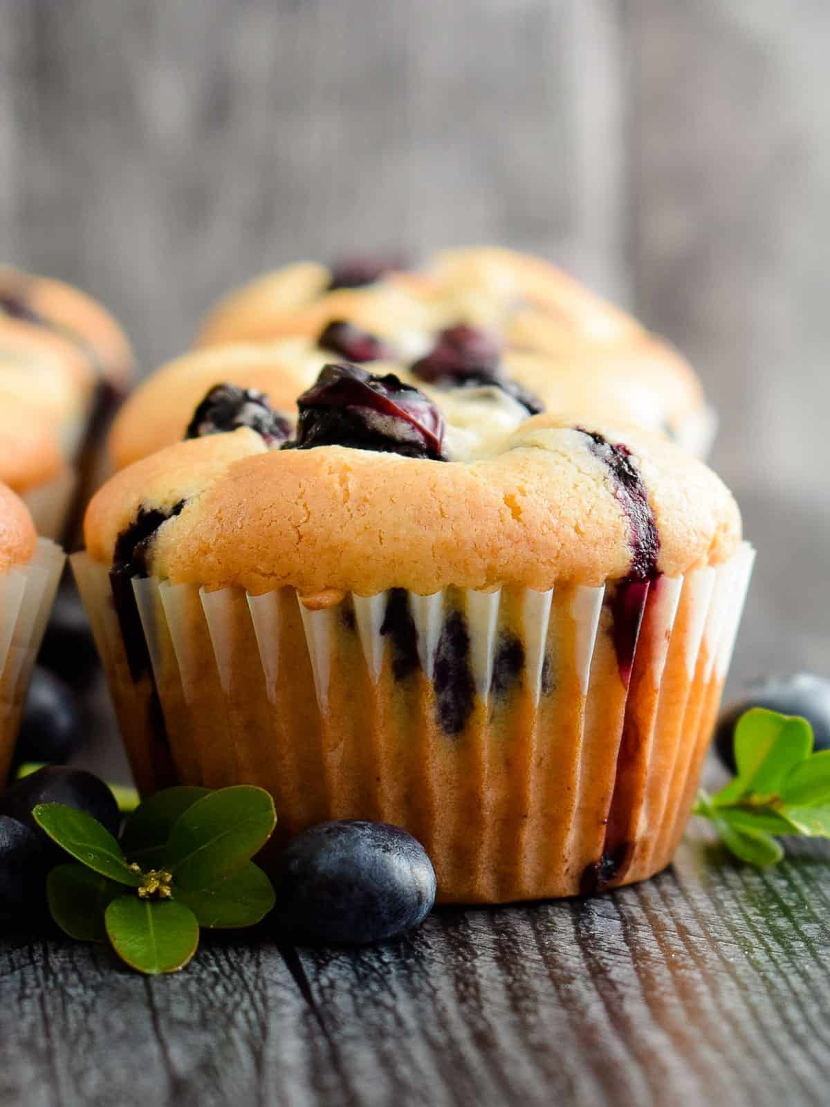 Sour Cream Blueberry Muffins Olga In The Kitchen Recipe In 2020 Muffin Recipes Blueberry Blue Berry Muffins Sour Cream Blueberry Muffins