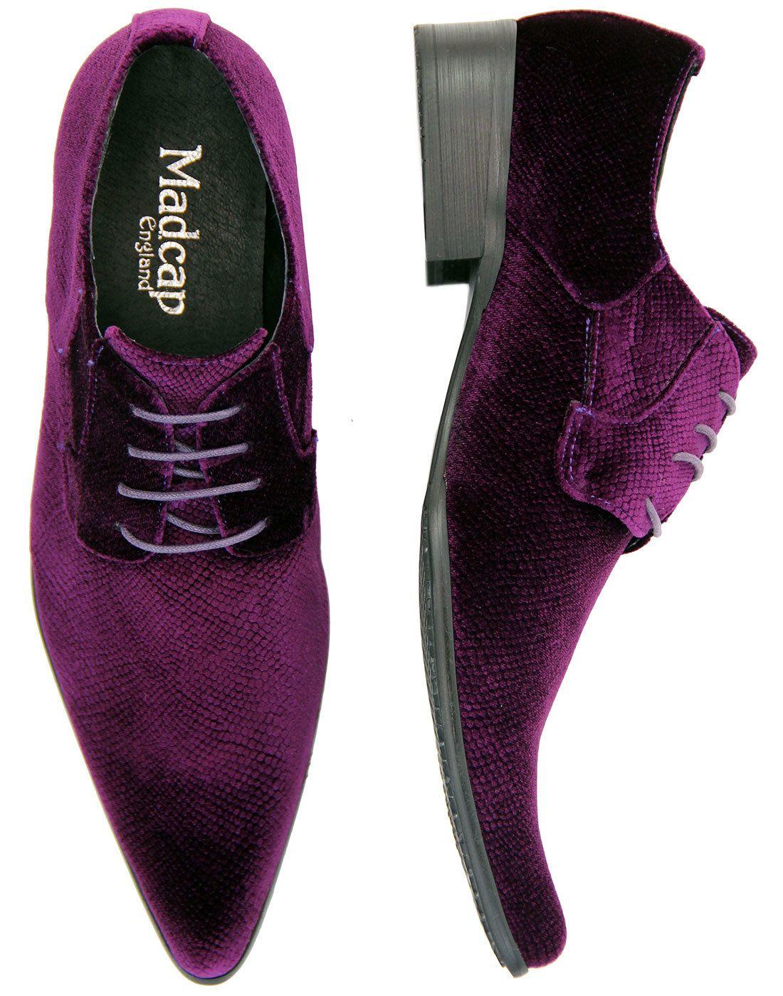 Purple dress with shoes  dcapenglandproductmensretromodvelvet