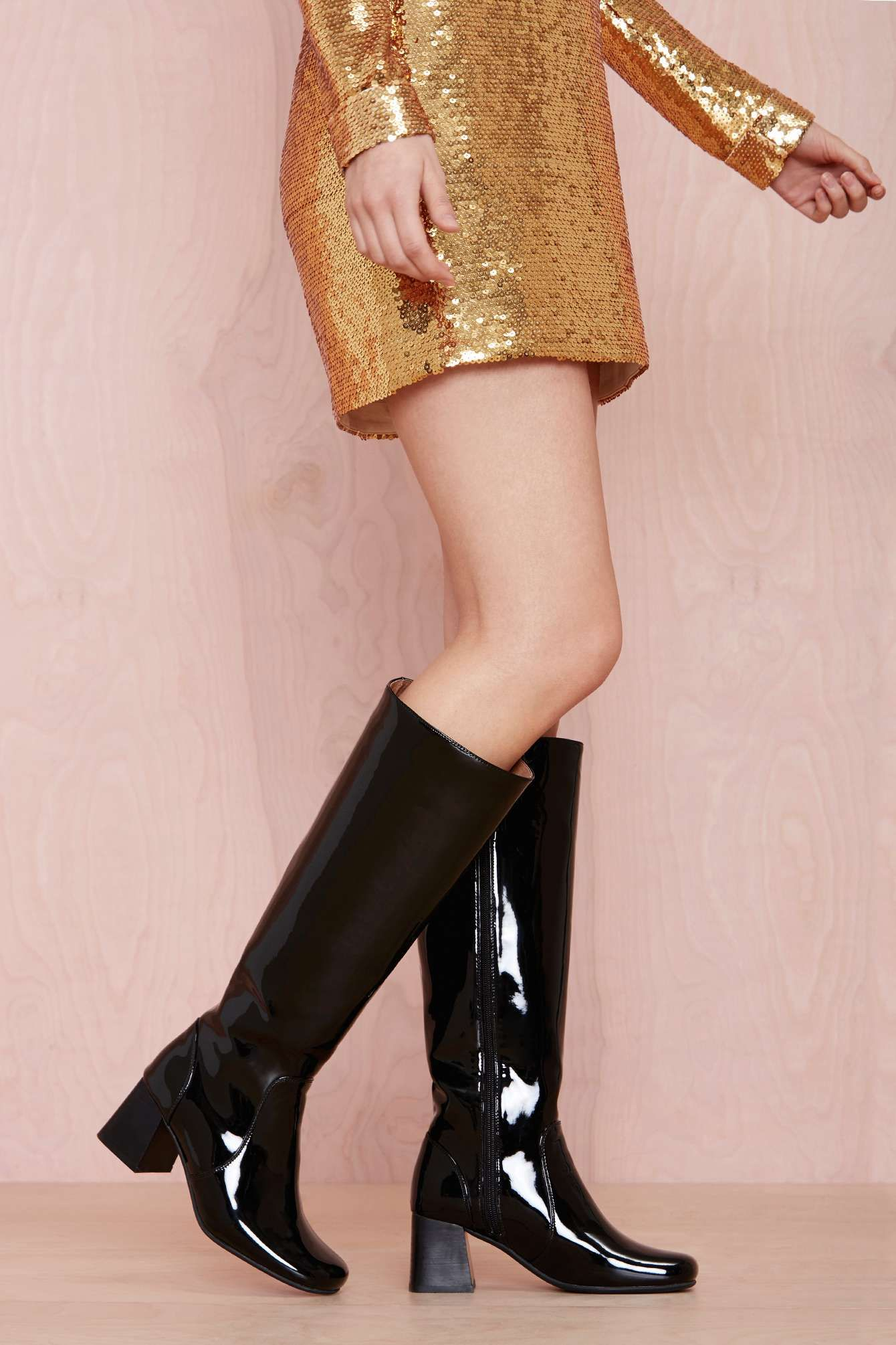 girls patent leather boots