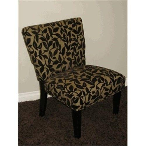 Versize Accent Chair Brown Flock As Shown Chair