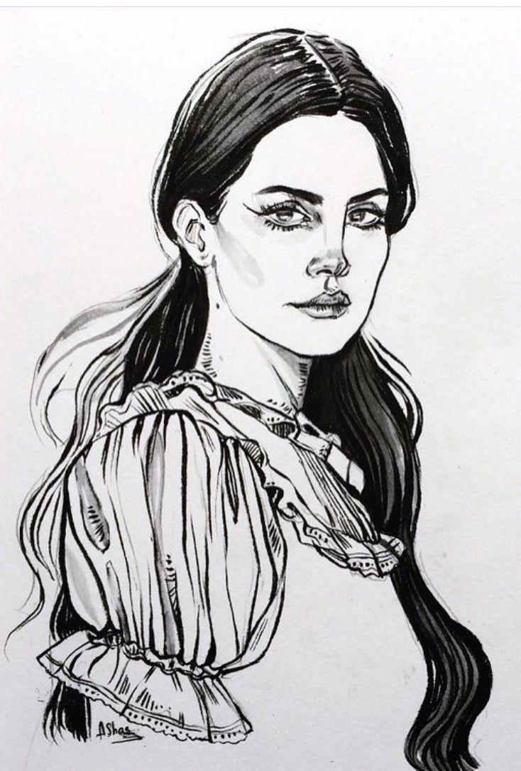 Lana Del Rey Art By Arthur Shahverdyan Lana Del Rey Art Dibujos Artistas