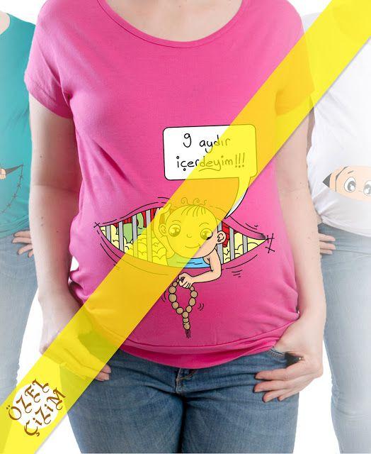 Hamile T Shirti Icin Karikatur Cizimi Ozel Cizim Karikatur Cizim Oya