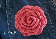 TresP craft blog: ROSA DE CROCHET TUTORIAL