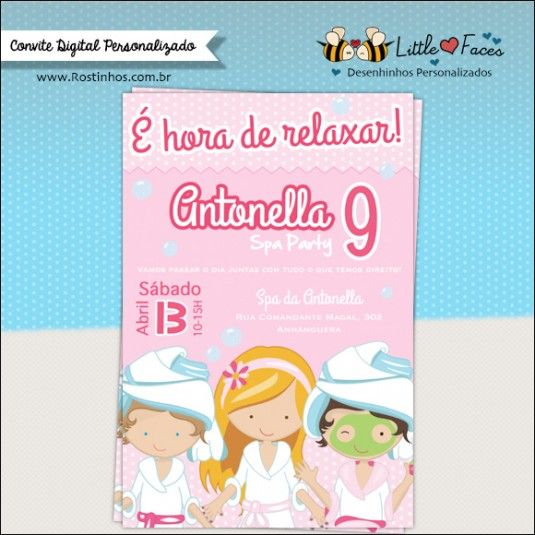 Convite Festa SPA para imprimir