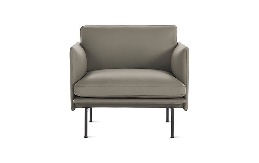 Muuto Outline Armchair Multicolor Leather At Dwr In 2020 Armchair Sofa Design Furniture Design